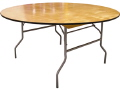 Rental store for 6ft Round Table - Wood  Seats 10 in Grand Cayman KY