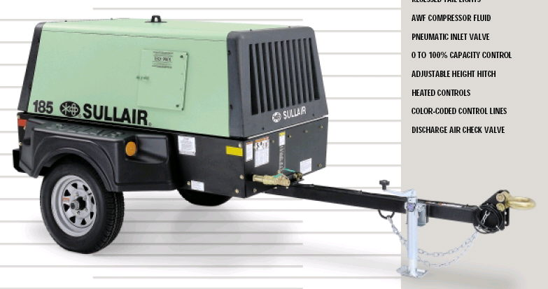 Where to find SULLAIR 185 W  TRAILER in Grand Cayman