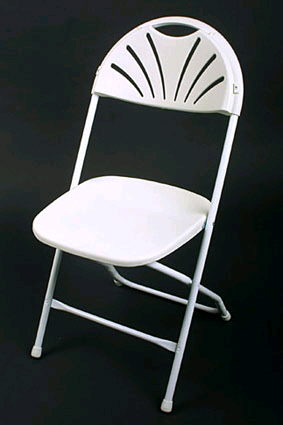 Where to find Chair - Plastic Folding  Fan back in Grand Cayman