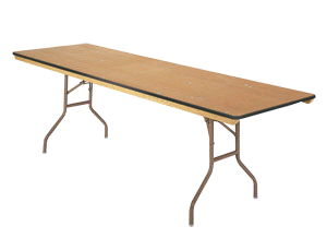 Where to find 8ft Banquet Table - Wood in Grand Cayman