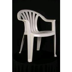 Where to find Chair - Plastic Patio  White in Grand Cayman