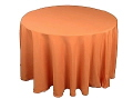 Rental store for 120  RND Tablecloth - Orange Polyester in Grand Cayman KY