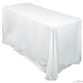Rental store for 90  x 156  Tablecloth - White Polyester in Grand Cayman KY