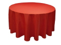 Rental store for 120  RND Tablecloth - Red Polyester in Grand Cayman KY