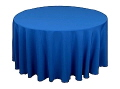 Rental store for Tablecloth 120  RND - Royal Blue Poly in Grand Cayman KY