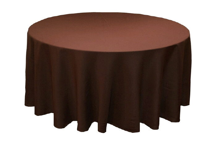 Where to find Tablecloth 120  RND - Choc Polyester in Grand Cayman