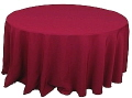 Rental store for 120  RND Tablecloth - Burgundy Polyester in Grand Cayman KY