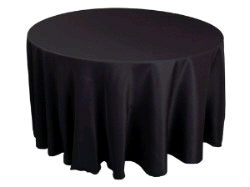 Where to find Tablecloth 120  RND - Black Polyester in Grand Cayman
