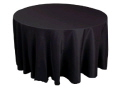 Rental store for 120  RND Tablecloth Black Polyester in Grand Cayman KY