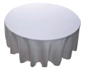 Rental store for Tablecloth 120  RND - White Polyester in Grand Cayman KY