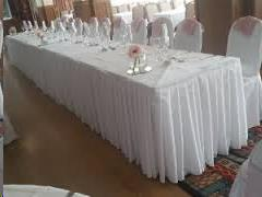 Where to find 17  x 30  Table Skirting-White Polyester in Grand Cayman