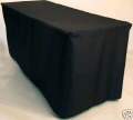 Rental store for 6ft. Fitted Tablecloth Black in Grand Cayman KY