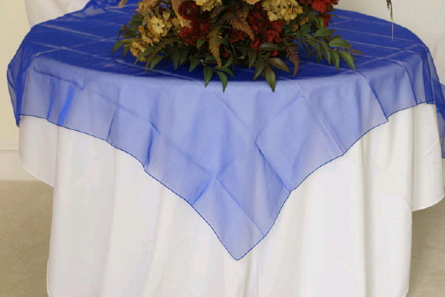 Where to find Overlay 90  RND - Royal Blue Organza in Grand Cayman