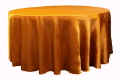 Rental store for Tablecloth 132  RND - Orange Satin in Grand Cayman KY