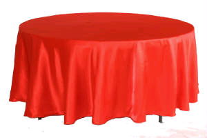 Where to find Tablecloth 132  RND - Red Satin in Grand Cayman