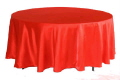 Rental store for Tablecloth 132  RND - Red Satin in Grand Cayman KY