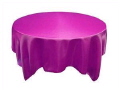 Rental store for Tablecloth 132  RND - Fuchsia Satin in Grand Cayman KY