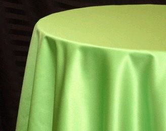 Where to find Tablecloth 132  RND - Lime Green Satin in Grand Cayman