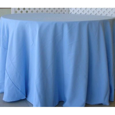 Where to find Tablecloth 132  RND - Light Blue Satin in Grand Cayman
