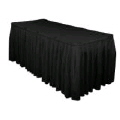 Rental store for 21  x 30  Table Skirting-Black Polyester in Grand Cayman KY