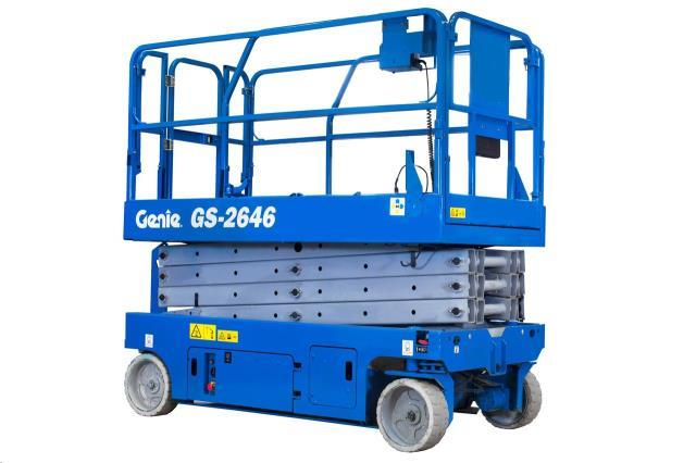 Where to find 26FT SCISSOR LIFT GENIE in Grand Cayman