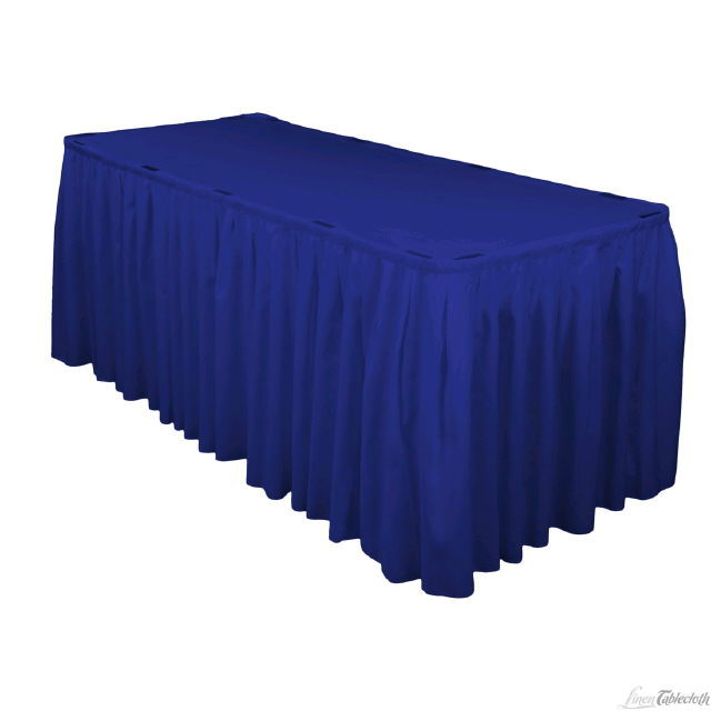 Where to find 21 x 30  Table Skirting-R-Blue Polyester in Grand Cayman