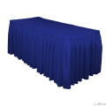 Rental store for 21 x 30  Table Skirting-R-Blue Polyester in Grand Cayman KY