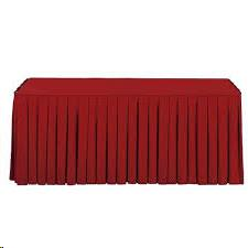 Where to find 17  x 30  Table Skirting - Red Polyester in Grand Cayman