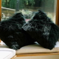 Rental store for Pillow Cushion Cover - Animal Fur Black in Grand Cayman KY