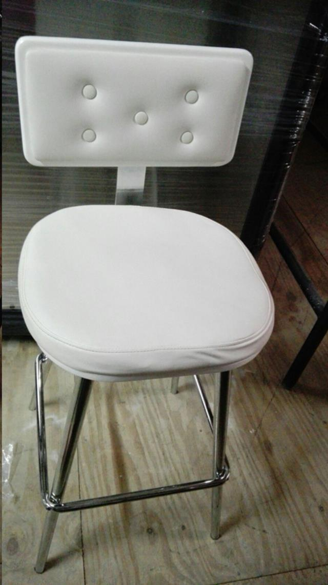 Where to find Bar Stool - White Leather in Grand Cayman