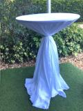 Rental store for Tablecloth 132  RND - White Iridescent in Grand Cayman KY