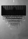 Rental store for Chandelier Acrylic Black Sq Lamp in Grand Cayman KY