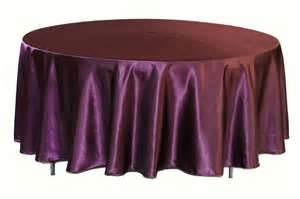 Where to find Tablecloth 132  RND - Plum Satin in Grand Cayman