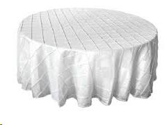 Where to find Tablecloth 132  RND - White Pintuck in Grand Cayman