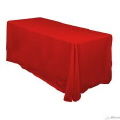 Rental store for 90  x 132  Tablecloth - Red Polyester in Grand Cayman KY