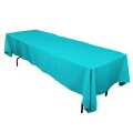 Rental store for 90  x 132 Tablecloth-Turquoise Polyester in Grand Cayman KY