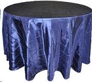 Where to find Tablecloth 132  RND - Navy Blue Pintuck in Grand Cayman