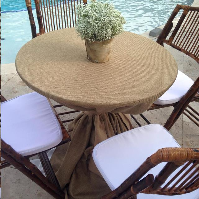 Where to find 96  RND Burlap Overlay in Grand Cayman