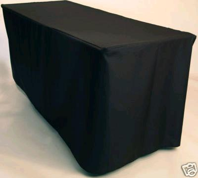 Where to find Tablecloth 8ft. Fit - Black Polyester in Grand Cayman