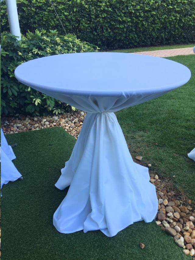 Where to find Tablecloth 120  RND - White Lamour in Grand Cayman