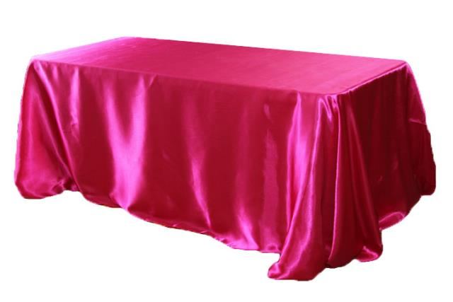 Where to find Tablecloth 90 x156  - Fuchsia satin in Grand Cayman