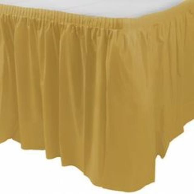 Where to find 17  x 30  Table Skirting-Camel Polyester in Grand Cayman