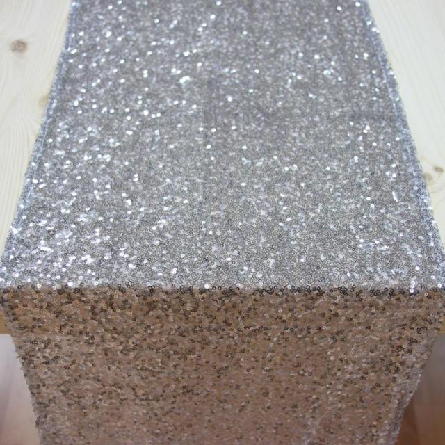 Where to find Sequin silver table runner in Grand Cayman