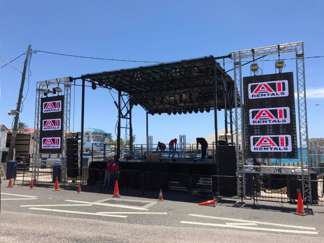 E1 MACHINE MOBILE STAGE 24 FOOT X24 FOOT Rentals Grand