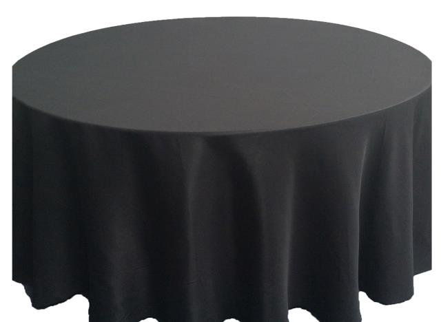 Where to find 8ft. RND Tablecloth Black in Grand Cayman