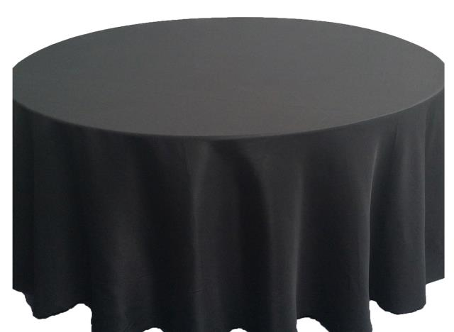 Where to find 6ft. RND Tablecloth Black Polyester in Grand Cayman