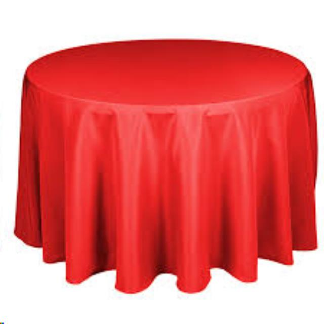 Where to find 124  RND Tablecloth- Red Satin in Grand Cayman