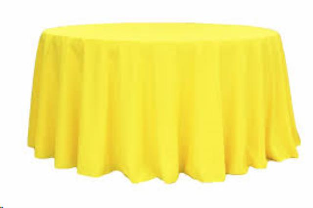 Where to find Tablecloth 132  RND - Yellow Polyester in Grand Cayman