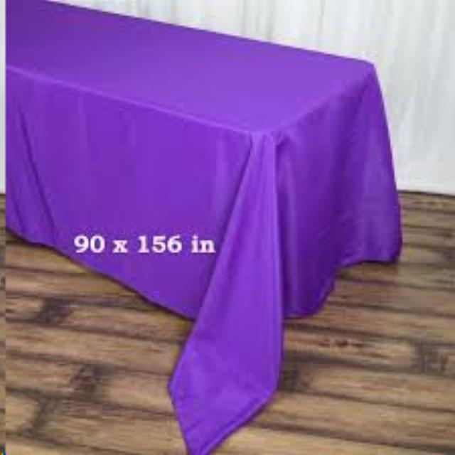 Where to find Tablecloth 90 x156 - Purple Satin in Grand Cayman