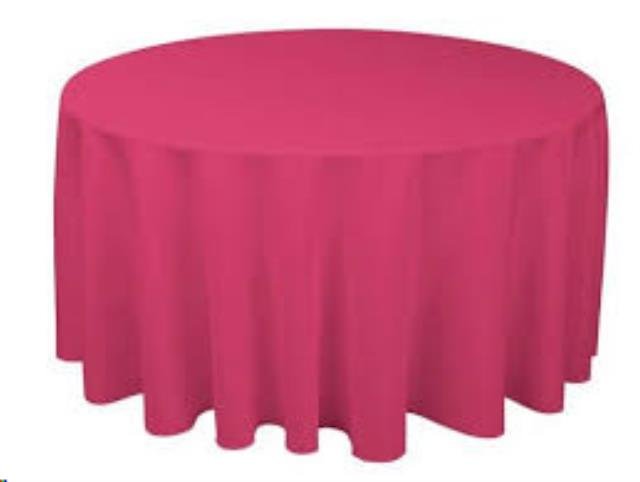 Where to find Tablecloth 132  RND - Pink Thick Poly in Grand Cayman